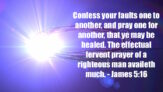 Confess Your Faults
